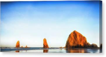 Early Dawn Shores Canvas Print