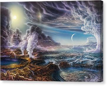 Early Earth Canvas Print by Don Dixon