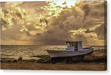 Early Evening Aground Canvas Print