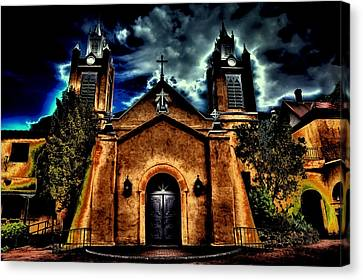 Early Evening At The San Felipe De Neri Parish Canvas Print by David Patterson