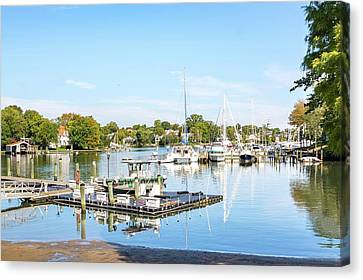 Canvas Print featuring the photograph Early Fall Day On Spa Creek by Charles Kraus