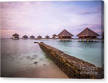 Canvas Print featuring the photograph Early In The Morning by Hannes Cmarits