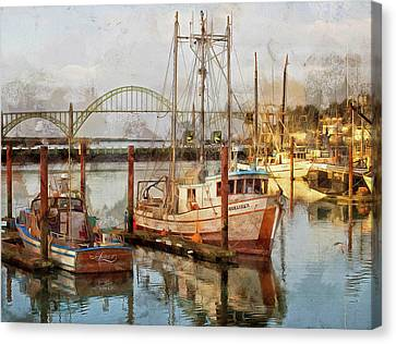 Early Light On Yaquina Bay Canvas Print