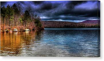Canvas Print featuring the photograph Early May On Limekiln Lake by David Patterson