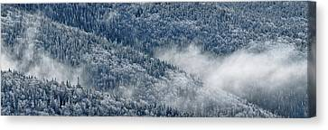 Early Morning After A Snowfall Canvas Print by Sebastien Coursol