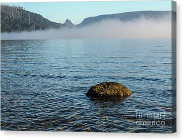 Canvas Print featuring the photograph Early Morning At Lake St Clair by Werner Padarin