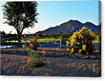 Early Morning At The Dunes Golf Course - La Quinta Canvas Print