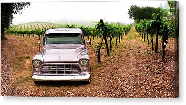 Grape Pickers Canvas Print - Early Morning Chevy by Cal  Cruise