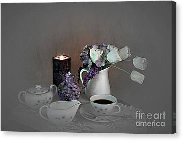 Early Morning Coffee Canvas Print by Sherry Hallemeier