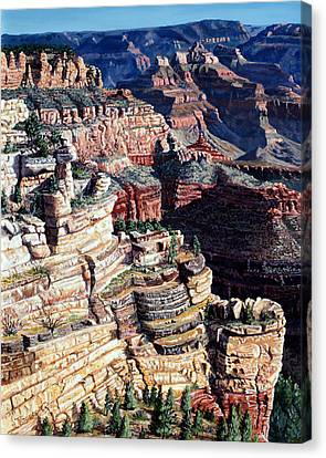 Early Morning From The South Rim Canvas Print by Timithy L Gordon