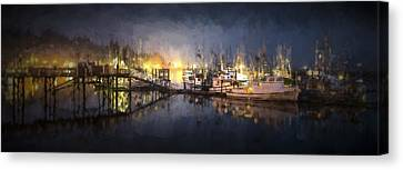 Pier Canvas Print - Early Morning Harbor IIi by Jon Glaser
