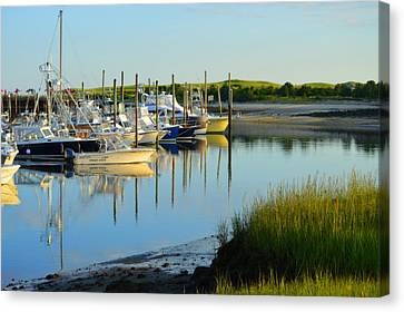 Early Morning Harbor Side Canvas Print
