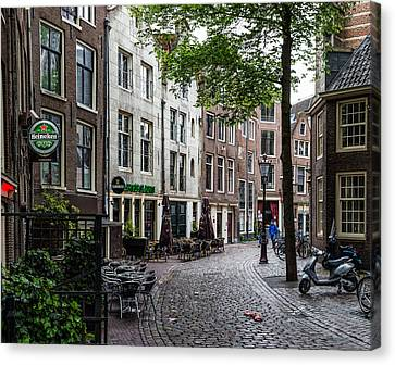 Hdr Landscape Canvas Print - Early Morning In Amsterdam by Capt Gerry Hare