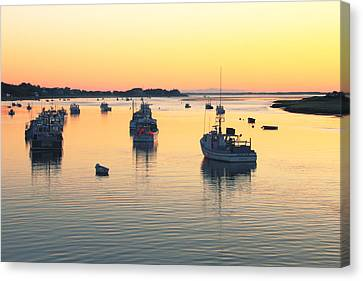 Early Morning In Chatham Harbor Canvas Print by Roupen  Baker