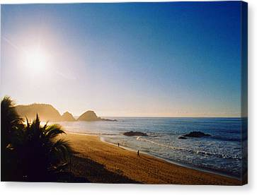 Early Morning In Zipolite 2 Canvas Print by Lyle Crump