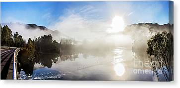 Early Morning Mist On Lake Rosebery Tasmania Canvas Print by Jorgo Photography - Wall Art Gallery