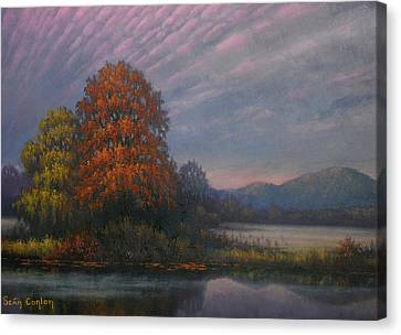 Early Morning Mist Canvas Print by Sean Conlon
