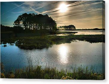 Early Morning On Beach Drive II Canvas Print by Steven Ainsworth