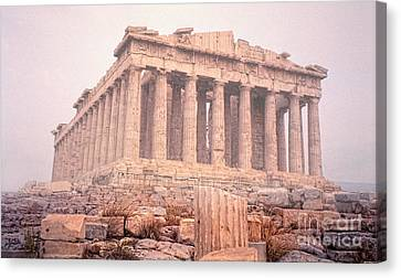 Canvas Print featuring the photograph Early Morning Parthenon by Nigel Fletcher-Jones