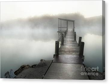 Canvas Print featuring the photograph Yesterday's Early Morning Pier by Tamyra Ayles