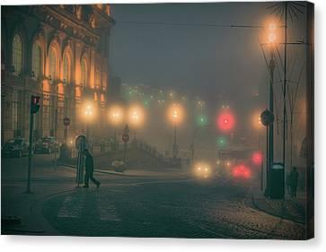 Early Morning Porto Fog Canvas Print by Chris Fletcher