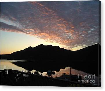 Canvas Print featuring the photograph Early Morning Red Sky by Barbara Griffin