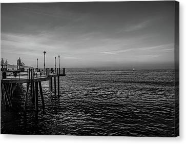 Canvas Print featuring the photograph Early Morning Redondo By Mike-hope by Michael Hope