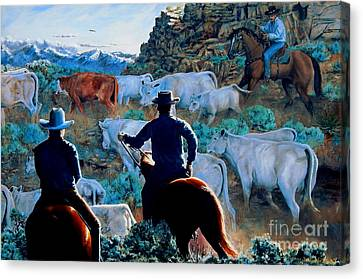 Early Morning Roundup Canvas Print by Ruanna Sion Shadd a'Dann'l Yoder