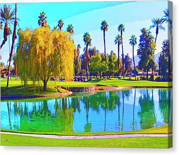 Early Morning Tee Time Canvas Print by Dominic Piperata