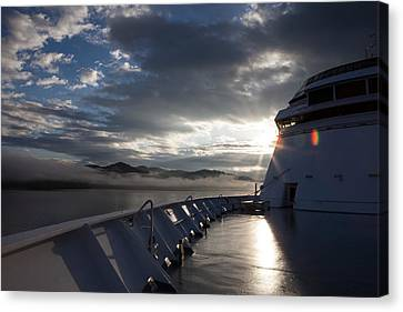 Early Morning Travel To Alaska Canvas Print