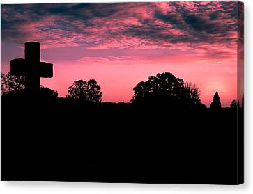 Early On The Hill Canvas Print