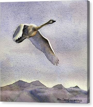 Canvas Print featuring the painting Early Riser by Kris Parins