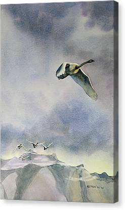 Canvas Print featuring the painting Early Risers by Kris Parins