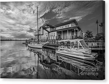 Early Sailing - Black And White Canvas Print by Mina Isaac