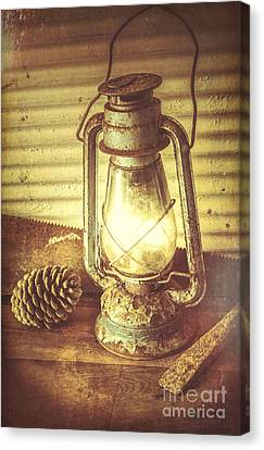 Melancholy Canvas Print - Early Settler Oil Lamp by Jorgo Photography - Wall Art Gallery