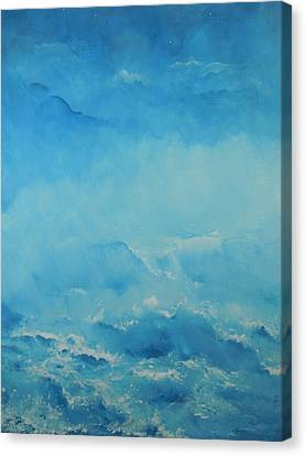 Early Shoreline Fog Canvas Print by Dan Whittemore