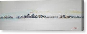 Early Skyline Canvas Print