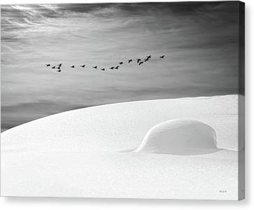 Clouds Canvas Print - Early Snow by Bob Orsillo