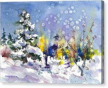 Early Snow Canvas Print by Cindy Spencer
