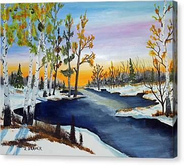 Jack Brauer Canvas Print - Early Snow Fall by Jack G Brauer