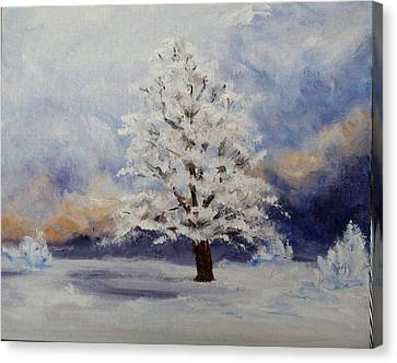 Early Snow Canvas Print by Thomas Restifo