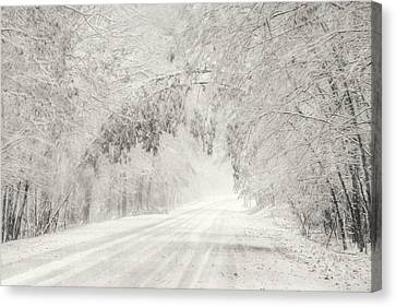 Early Snowfall Canvas Print by Lori Deiter