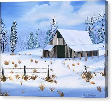 Early Snowfall Canvas Print by Ruth  Housley