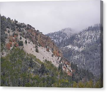Canvas Print featuring the photograph Early Snows by DeeLon Merritt