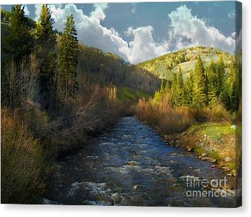 Early Spring Delores River Canvas Print by Annie Gibbons