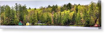 Early Spring Panorama Canvas Print by David Patterson