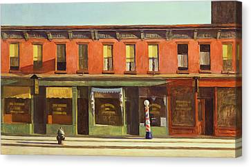 Early Sunday Morning Canvas Print by Edward Hopper
