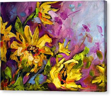 Early Sunflowers Canvas Print