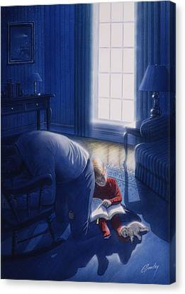 Early Will I Seek Thee Canvas Print by Cliff Hawley
