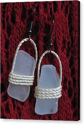 Earrings 1 Canvas Print by Lorna Diwata Fernandez